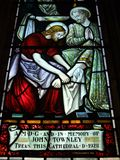 St. Andrew's Cathedral stained glass art Royalty Free Stock Images