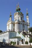 St. Andrew's church. In Kiev city royalty free stock photos