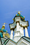 St. Andrew's Church or the Cathedral of St. Andrew was built in Kiev Royalty Free Stock Photo