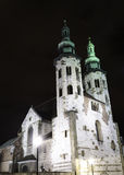 St. Andrew's Church on Grodzka Street by night. Krakow (Poland Royalty Free Stock Images