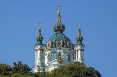 St. Andrew's Church. Church of St. Andrew on the hill in Kiev Royalty Free Stock Photo