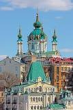 St. Andrew`s Church Kiev Stock Photos