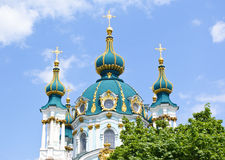 St. Andrew's Church in Kiev Stock Image