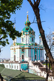 St Andrew`s Church in Kiev city Royalty Free Stock Photography