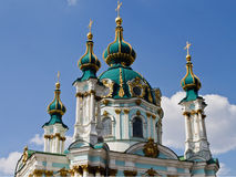 St. Andrew's Church in Kiev Royalty Free Stock Photography