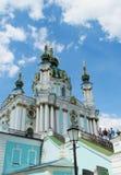 St Andrew's Church, Kiev, Orthodox church Stock Photos
