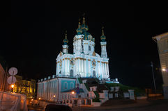 St. Andrew's Church, Kiev. Photo St. Andrew's Church at night Royalty Free Stock Images