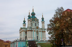 St. Andrew's church in Kiev Royalty Free Stock Image