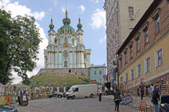 St Andrew's Church, Kiev. Ukraine. The Saint Andrew's Church is a major Baroque church located in Kiev, the capital of Ukraine. The church was constructed in stock photo