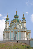St Andrew's Church, Kiev. Ukraine. The Saint Andrew's Church is a major Baroque church located in Kiev, the capital of Ukraine. The church was constructed in Stock Image