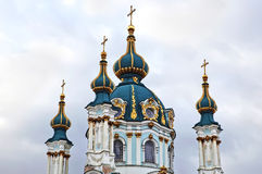 St. Andrew's church in Kyiv Royalty Free Stock Photos