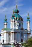 St. Andrew's church in Kyiv, Ukraine Stock Images