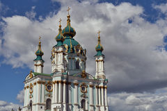 St. Andrew's church in Kyiv, Ukraine Royalty Free Stock Photos