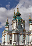 St. Andrew's church in Kyiv, Ukraine Stock Photography