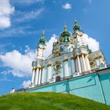 St. Andrew's church in Kyiv Stock Photography