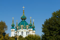 St. Andrew's church in Kyiv stock images