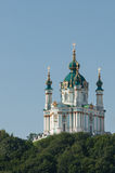 St. Andrew's Church. At sunrise, Kiev, Ukraine stock photos