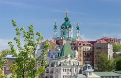 St. Andrew`s Church of 18th century in Kiev Royalty Free Stock Photo
