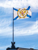 St. Andrew's flag on the Admiralty building Stock Images