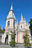 St- Andrew` s Kathedrale in St Petersburg Lizenzfreies Stockbild
