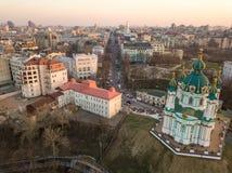 St Andrew ` s Kerk van Kiev Royalty-vrije Stock Foto