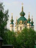 St- Andrew` s Kirche Kiew Ukraine stockfotos