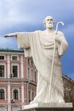 St Andrew statuy patronu Mikhaylovsky kwadrat Kijów Ukraina Zdjęcia Stock