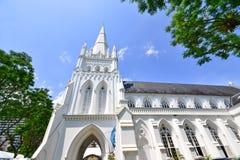 St- Andrewkirche in Singapur Stockbild