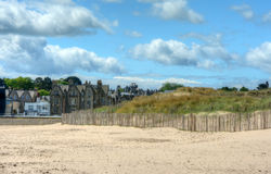 St. Andrews Beach. West Sands Beach in St. Andrews, Scotland royalty free stock photos