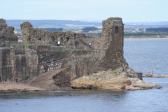 St Andrews castle. By the coast royalty free stock images