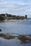 St Andrews castle. By the coast royalty free stock photo