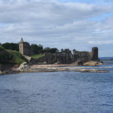St Andrews castle. By the coast stock images