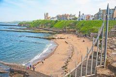 St Andrews Castle beach Stock Photography