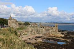 St Andrews Castle ruïneert St Andrews Fife, Schotland Stock Afbeeldingen