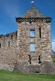 St Andrews Castle Ruins Scotland. St Andrews Castle Ruins in Scotland stock images