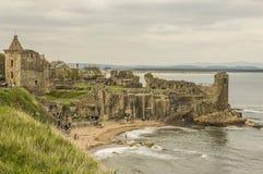St. Andrews Castle. Ruins of St. Andrews Castle, Scotland Stock Image