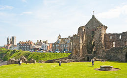 St Andrews castle. Showing water supply from well Stock Image
