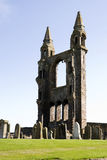 St.andrews cathedral. Ruins of St.Andrews Cathedral in St.Andrews scotland a major tourist attraction stock photos