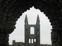 St Andrews cathedral. Ruins of St Andrews cathedral Royalty Free Stock Photos