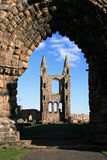 St Andrews Cathedral through the arch. Part of the ruined cathedral in St Andrews, Fife, Scotland stock image