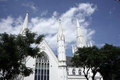 St Andrews Cathedral em Singapura fotos de stock