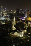 St Andrews Cathedral em Singapura Fotografia de Stock Royalty Free