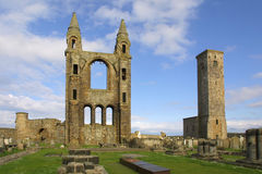 St Andrews Cathedral - Fife - Scotland. There had probably been a religious community located on this site since around 732AD, when relics of St Andrew were royalty free stock image