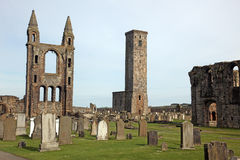 St Andrews cathedral grounds, Scotland Stock Photography