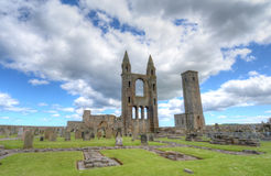 St. Andrews Cathedral. Ruins of St. Andrews Cathedral in St. Andrews, Scotland royalty free stock images