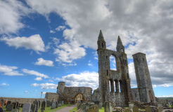 St. Andrews Cathedral. Ruins of St. Andrews Cathedral in St. Andrews, Scotland stock images