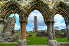 St. Andrews Cathedral. Ruins of St. Andrews Cathedral in St. Andrews, Scotland royalty free stock photography