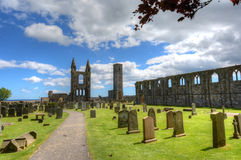 St. Andrews Cathedral. Ruins of St. Andrews Cathedral in St. Andrews, Scotland stock photography