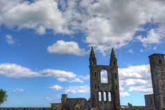 St. Andrews Cathedral. Ruins of St. Andrews Cathedral in St. Andrews, Scotland stock photo