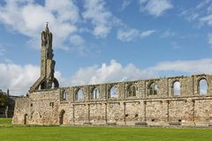 St Andrews Cathedral in St Andrews, Schotland stock foto's